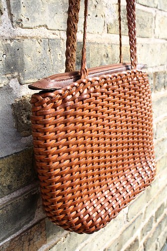 Handbag Auburn Leather Woven1