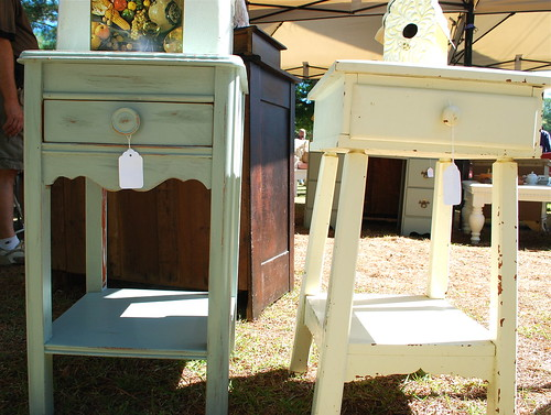 two cottage tables