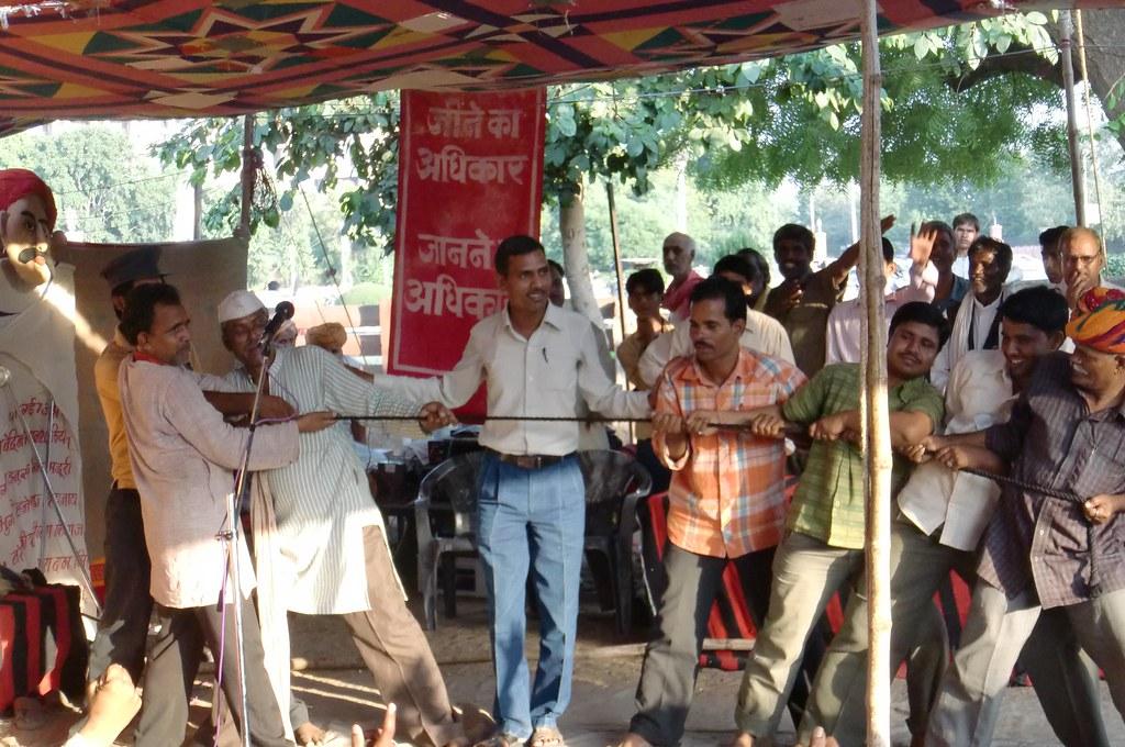 Pics from the satyagraha - 14 Oct 2010 - 7