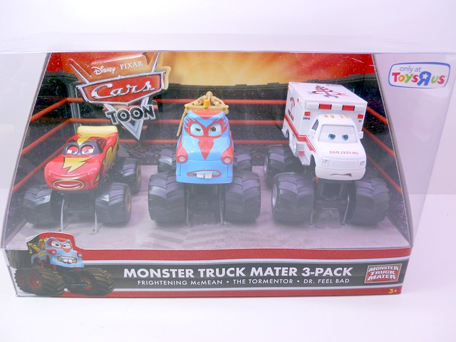 cars toon monster truck mater 3 pack