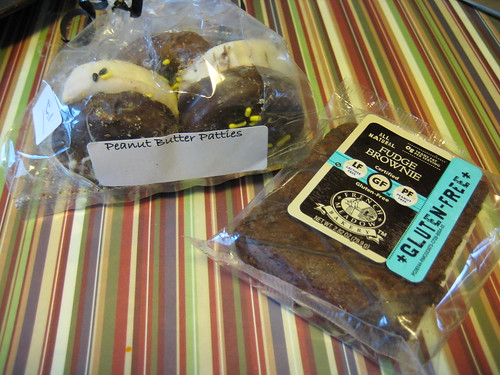 peanut butter patties and gluten-free brownie