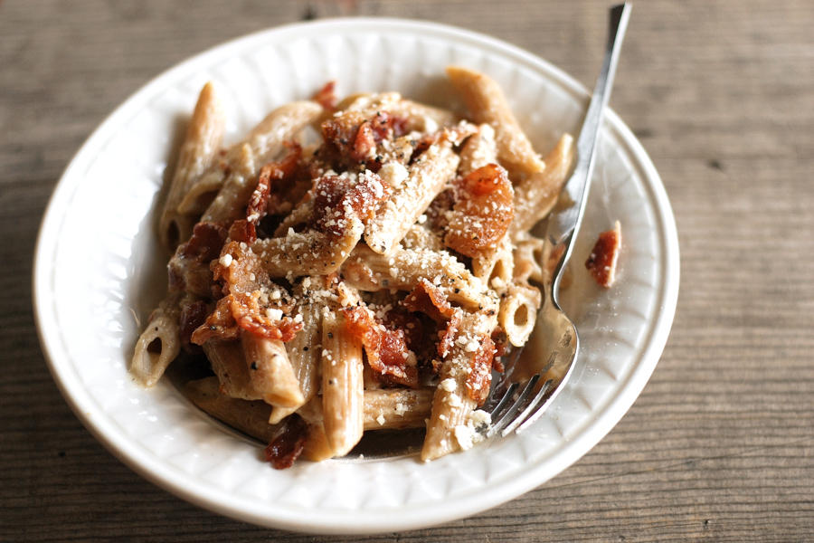 Tasty Kitchen Blog Bacon and Parmesan Pasta