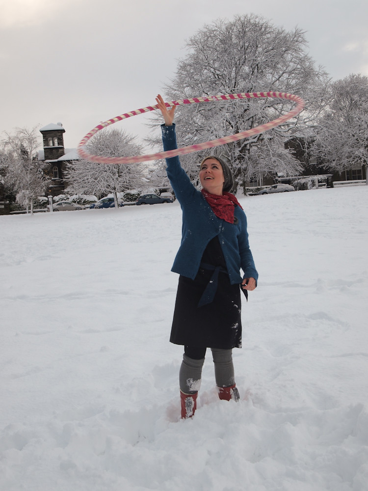 hooping in the snow