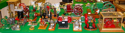Some of the 43 Steam engines, with estimates ranging from £50 to £500