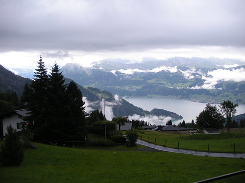 View from cog railway on Rigi near Luzern