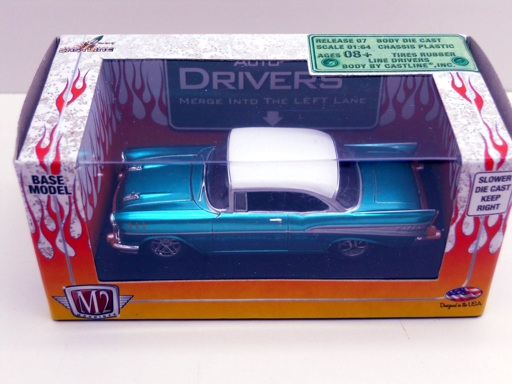 m2 57 chevy teal