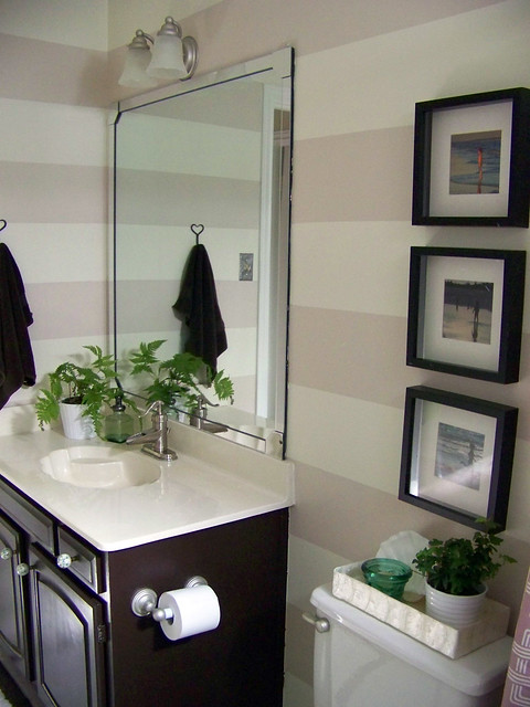 Remodelaholic Guest Bathroom Makeover With Painted
