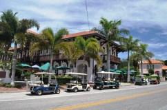 Golf Carts Site Outside Loose Caboose Restaurant, Boca Grande, Fla.