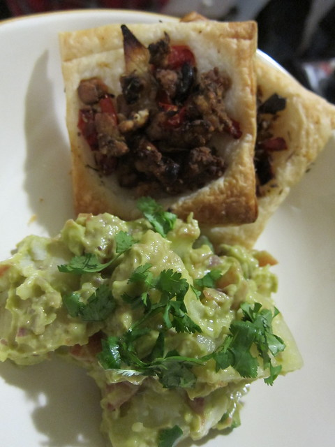 Tempeh Sausage Puff Pastry amazingness and avocado potato salad