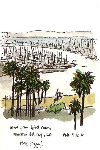 marina del rey hotel view