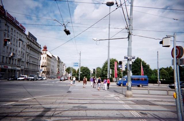 去年夏天的維也納街景,用LOMO拍攝的。