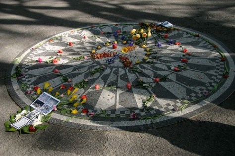 John Lennon commemoration, Central Park, New York