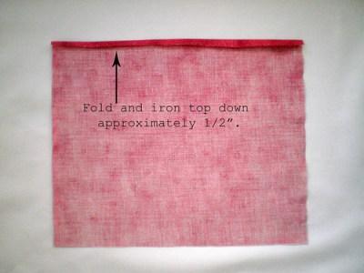 Fold and iron