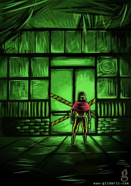 Un Flash dans la nuit -Illustration de Gilderic d'après un texte de Florian Houdart