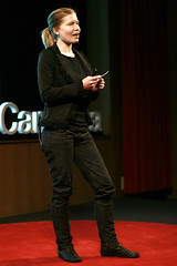 Miriam Lyons presenting at TEDxCanberra