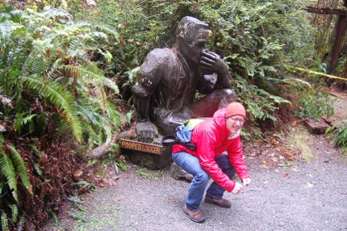 Pooped Logger (and hiker).