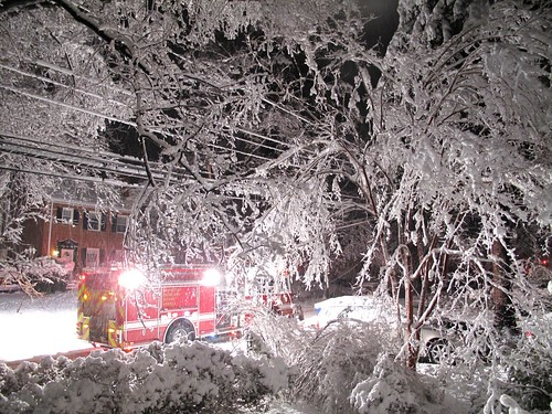 fire truck + snow