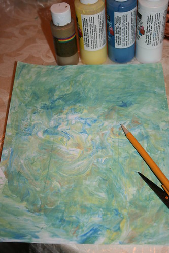 Paints and made paper
