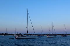 Sailing ships in S'Espalmador