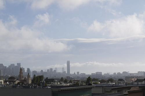 the view of downtown San Francisco skyline from home