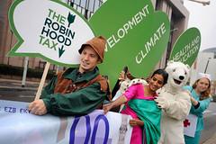 Robin Hood Tax Stunt in Brussels, 6 September 2010