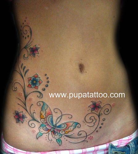 Tatuaje Mariposa Pupa Tattoo Granada