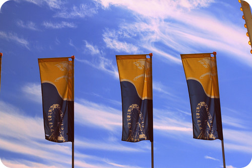 ferris wheel flags