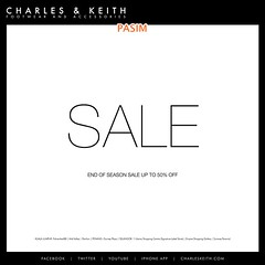Charles & Keith End Of Season Sale 12 Nov 10+