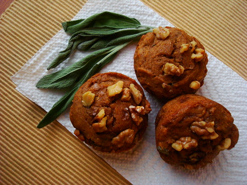 Pumpkin, Sage, and Browned-Butter Muffins