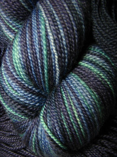 Inky Depths - Hand Dyed Sock Yarn Navy Blue Teal