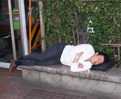 Sleeping in Japan