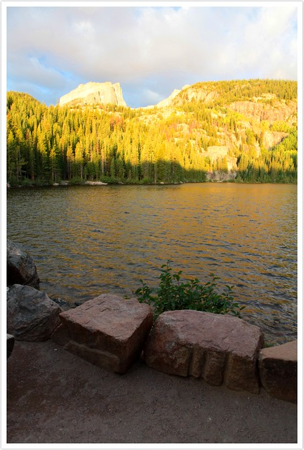 Bear Lake and Hallett's Peak After Sunrise