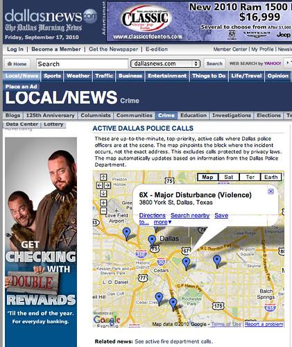 Active Dallas Police calls