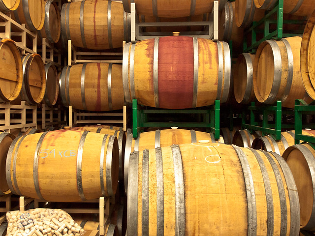 Wine Barrels, Gamache Winery
