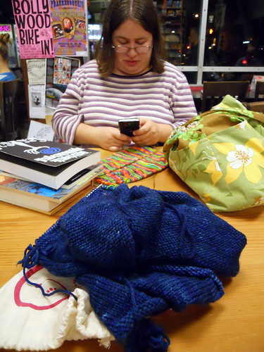 Knitting at Powell's