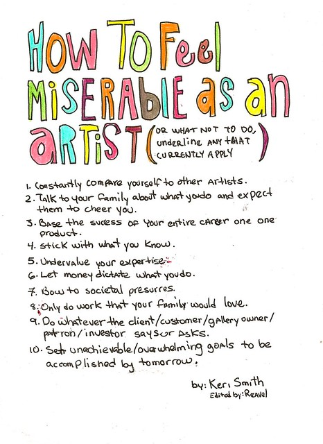 How to Feel Miserable as an artist by Keri Smith