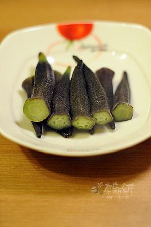 水煮紫秋葵