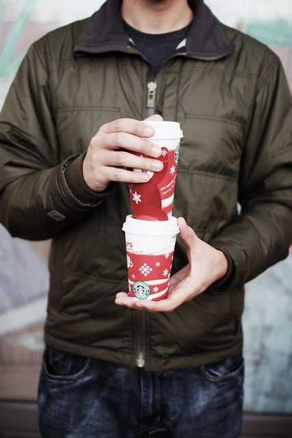 We love the red holiday cups