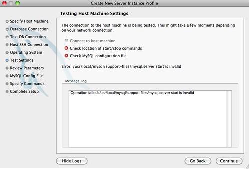 Testing the Host Settings