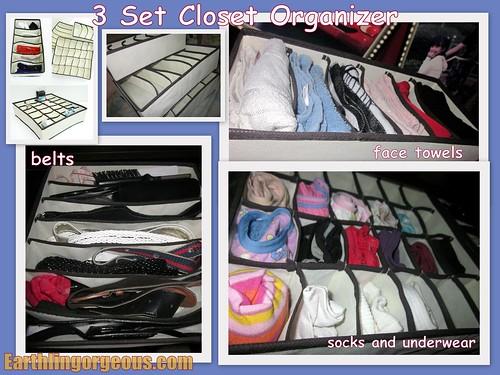 3 Set Closet Organizer