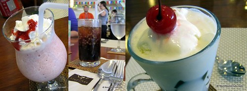 Banana Berry Smoothie, Sagot Gulaman, and Coffee Jelly