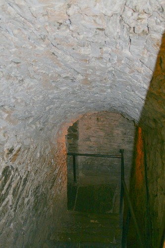 Steps to Catacombs and candle light restaurant