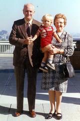 Grandma & Grandpa with my cousin Warwick Feb 1974