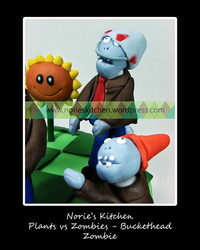 orie's Kitchen - Plants vs Zombies Cake - Buckethead Zombie