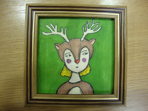 Reindeer girl for Winter craft fair in Lewisham