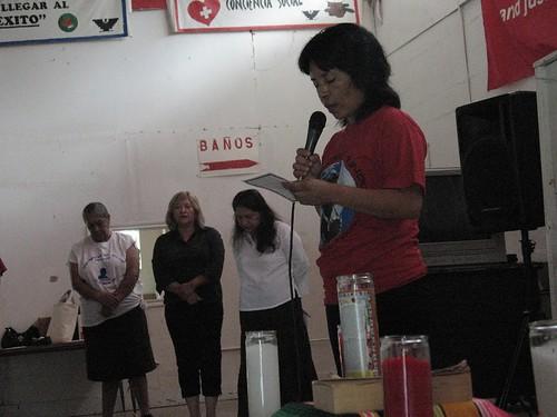 Sareth recites Prayer of the Farmworker in the Struggle
