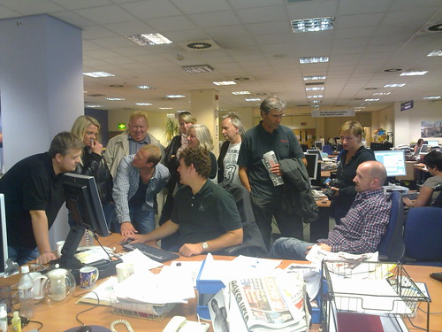 Norwegian journos visiting the Echo