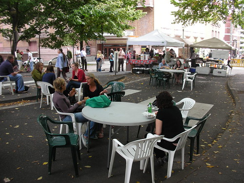 Farmers Market in Portland's Public Space