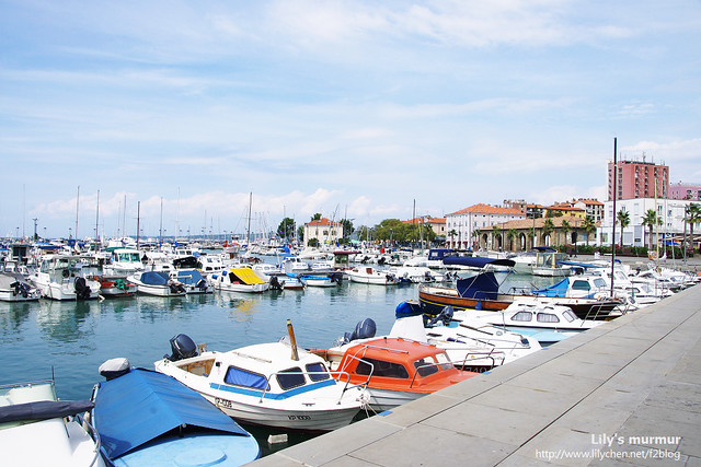 Koper港內私人遊艇停放處一景。