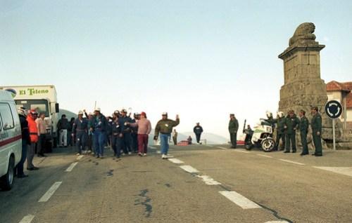 Los mineros entrando en la provincia de Madrid, dos jornadas les quedaban para llegar a la meta.